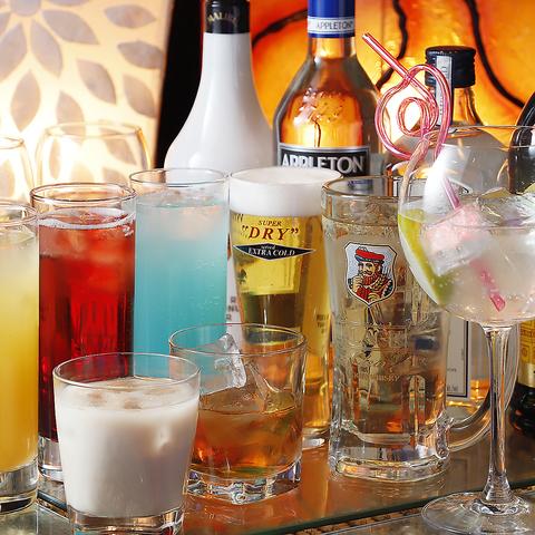 オシャレな店内でリーズナブルにお酒を楽しむ♪飲み放題付き『学生限定プラン』全3品