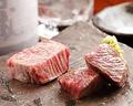 料理メニュー写真ヒウチレアステーキ(和牛もも肉希少部位)