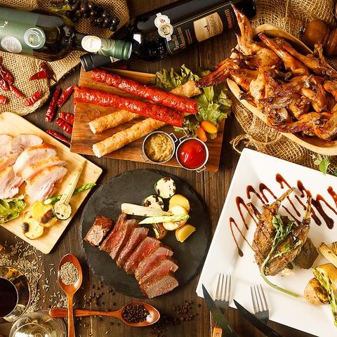 アジア各国の珍しいビールと自家製窯焼きお肉★本格エスニック料理が味わえるビストロ