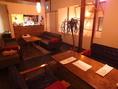 2Fソファー席は個室としてもご利用いただけます!落ち着いた雰囲気でごゆるりと。