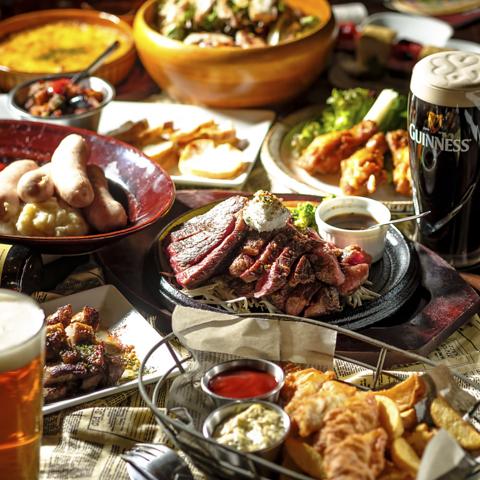 【貸切大歓迎!】絶品肉料理とクラフトビールで乾杯♪飲み放題付コース4000円~