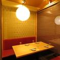 4名様より個室席完備!飲み放題付コースは3500円より◎