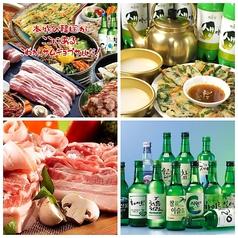 本場 韓国食堂 豚の貯金箱の写真