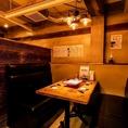 【3階コース専用個室席】3階テーブル席は、ゆったりとした落ち着いた空間です。特別な宴会や周りを気にせず宴会されたい方におすすめ♪【禁煙】