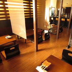 半個室の座敷(2~20名)20名様までの個室にもなります。