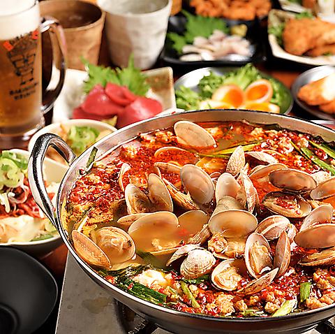 【仁の満足プラン】飲み放題120分+名物台湾もつ鍋付きコース♪迷ったらコレ!