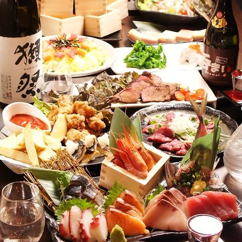 全11品&2H飲み放題 国産牛ステーキや広島産カキフライなど 各種ご宴会に♪ 6000円