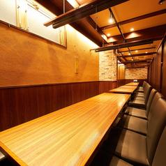 完全個室利用も可能な大人数テーブル席!10~27名様までOK!