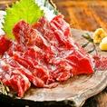 <大トロ馬刺し>熊本から直送です!老舗馬肉店から、当グループ店にのみ卸している部位を堪能してください!とろけるお肉はたまりません!