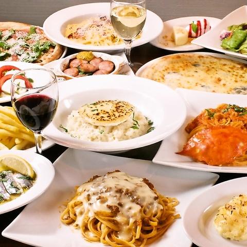 種類豊富のイタリアン★食べ放題コース1580円(税込)~各種コース取り揃えております