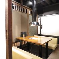 接待やお忍びの食事に最適な個室完備