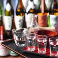 日本各地の銘酒を常時約20種類ご用意!選べるお猪口も♪
