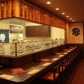 オープンキッチンの臨場感溢れるカウンター席は通の証!常連様は常に選ぶ人気席!!