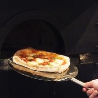 季節限定メニューも有り!!ピザ釜で焼き上げる本格Pizza
