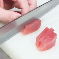 新鮮鮮魚を職人が捌きます