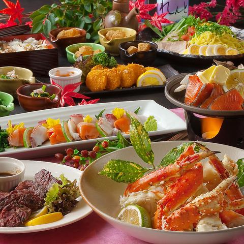 博多駅筑紫口徒歩3分!福岡に居ながら北海道を堪能♪北海の旬と蟹料理が楽しめます