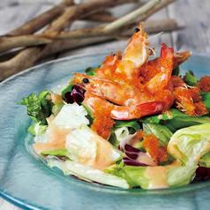 プリプリ海老とアボガドの明太子サラダ