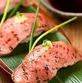 料理メニュー写真牛トロ炙り寿司 (3貫)