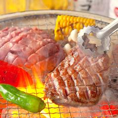 【コース料理より】  厚切りの牛タンステーキ