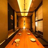幅広くご利用頂ける団体個室は大人気♪当店は大小様々な個室をご用意しております。