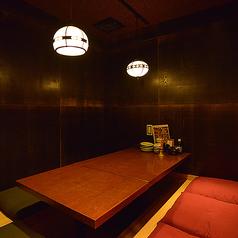 店内奥に潜む個室!周りを気にせずに落ち着いてお楽しみいただけます。