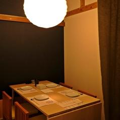 テーブル個室は2~4名程度のご利用可能。最大10名程度。