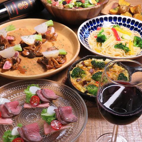 全7品120分飲み放題付グリル料理秋の宴パーティーコース5000円