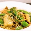 料理メニュー写真ジャガイモと青菜野菜のジェノベーゼ