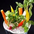 料理メニュー写真スティック野菜の白味噌オイル