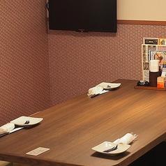 4名様までご利用頂けるテーブル席です。