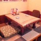 1階の座敷にて2名様席を1卓ご用意しております。