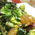 料理メニュー写真豆腐とオニオンジュレのサラダ