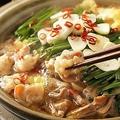 料理メニュー写真国産モツ鍋(醤油)