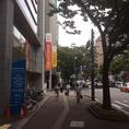 西日本シティ銀行を左です。