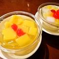 料理メニュー写真杏仁豆腐/マンゴープリン