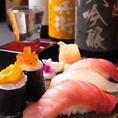 倭自慢の「寿司」を是非。単品ではもちろん、風以上のコースでも注文可能です。