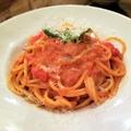 """料理メニュー写真数種トマトとバジリコの """"スパゲッティ"""""""