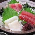 料理メニュー写真鮮魚刺身3種盛り