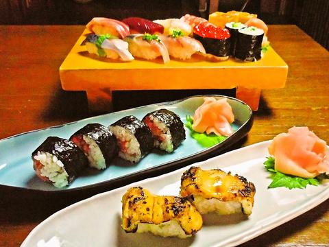 地のものはもちろん、全国から最高の食材を集めたこだわりのお寿司屋さん。