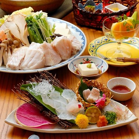 名物 クエ料理がとてもおいしい季節です。是非ご賞味ください。