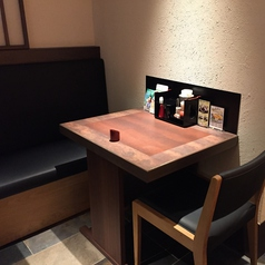 2名様向けのテーブル席