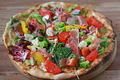 料理メニュー写真農園風野菜のピザ