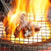最高級備長炭使用「赤鶏ももの炭火焼き」