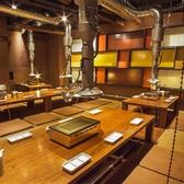 大人数宴会に最適な掘りごたつ席は会社の飲み会や同窓会など団体様でのご利用にお勧めです。食べ放題のコースも多数取り揃えておりますので大人数の宴会もぜひご利用下さい。【渋谷/焼肉/食べ放題/送別会/歓迎会/宴会】
