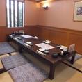 【桜】最大16名様までのお座敷個室★4×4のお席にもなります。隣の個室とつなげることも可能!人数に合わせて対応できます。