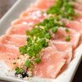 料理メニュー写真鶏生ハムのカルパッチョ~黒トリュフオイル~