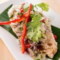 料理メニュー写真揚げ魚の和え物