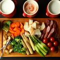 料理メニュー写真肉バルチーズフォンデュ