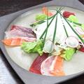 料理メニュー写真地魚の三色カルパッチョ