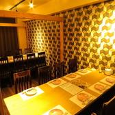 8名様掛けのテーブル席。プライベート飲み会に◎